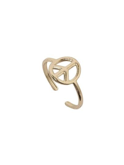 Golden Anti-war Logo Ring