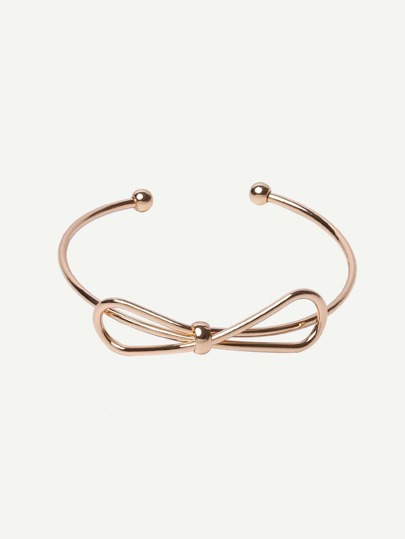 Golden Open Cuff Bow Bracelet