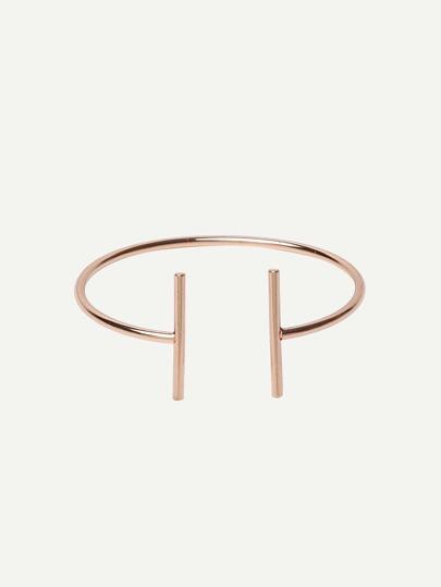Golden Open Cuff Minimalist Bracelet