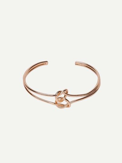 Golden Open Cuff Hollow Bracelet