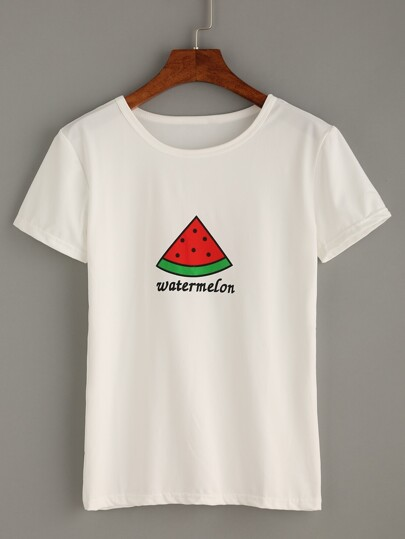Watermelon Print T-shirt