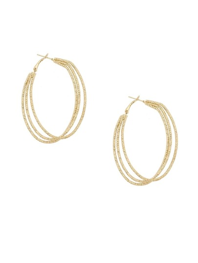 Golden Fashionable Geometric Earrings