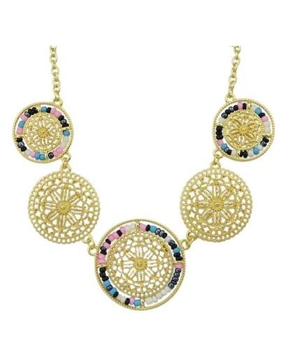 Flower Shape Statement Necklace