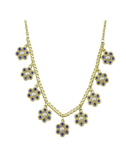 Rhinestone Flower Shape Necklace