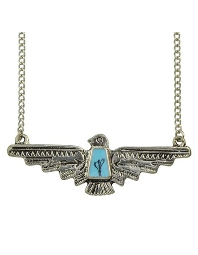 Enamel Eagle Pendant Necklace