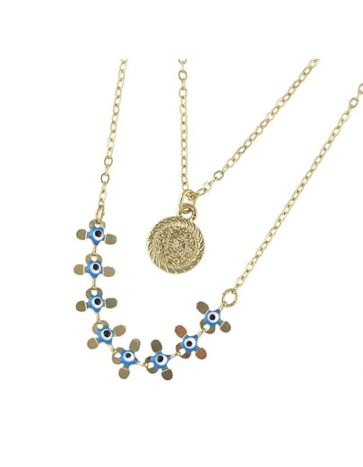 Three Layers Long Druzy necklace