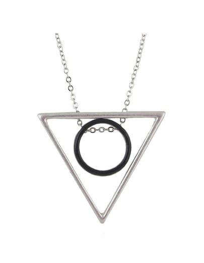Triangle Pendant Long Necklace