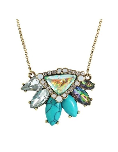 Rhinestone Pendant Stone Necklace