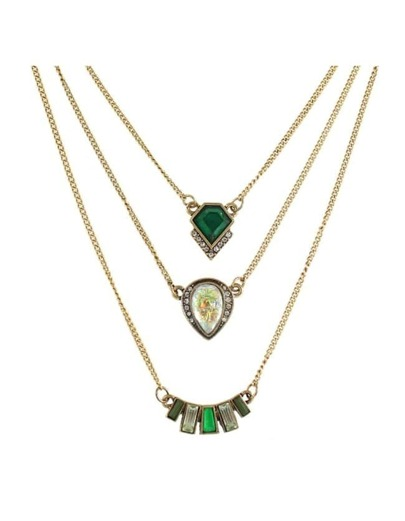 Multilayers Rhinestone Pendant Necklace