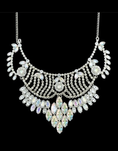 Rhinestone Chunky Statement Necklace