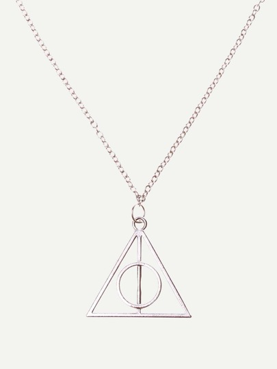 Deathly Hallows Pendant Chain Necklace