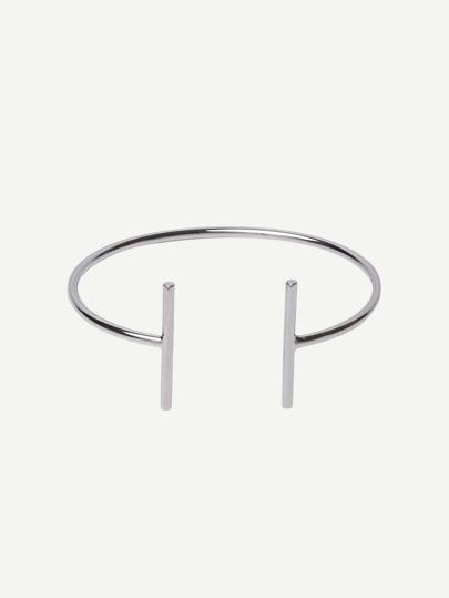 Brazalete abierto minimalista -plata