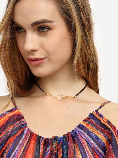 Minimalist Geometric Choker Necklace