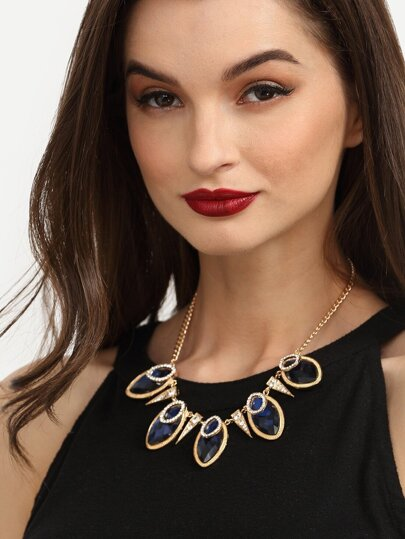 Fashionable Gemstone Statement Necklace