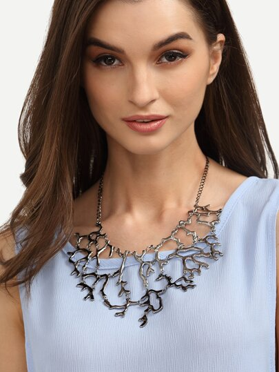 Vintage Coral-shaped Statement Necklace