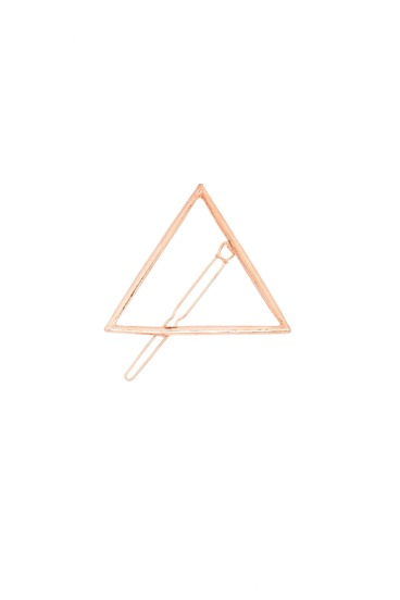 Golden Minimalist Triangle Hair Clip