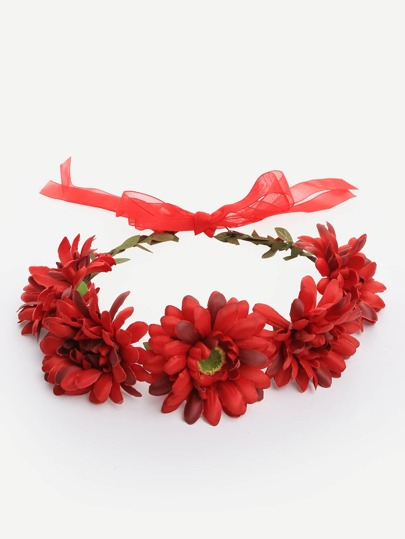 Red Flower Crown Hairband