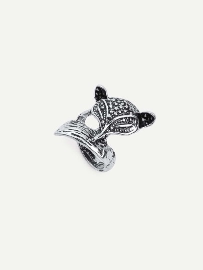 Antique Silver Fox-shaped Ring