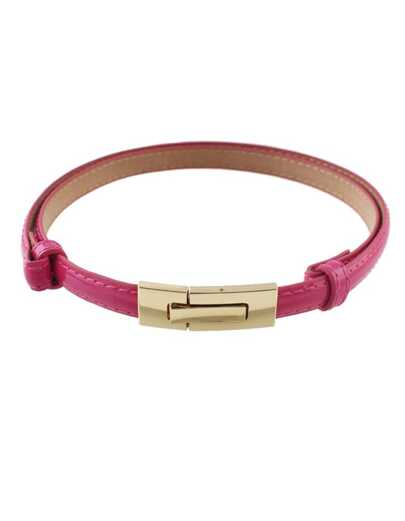 Hotpink Pu Leather Thin Belt