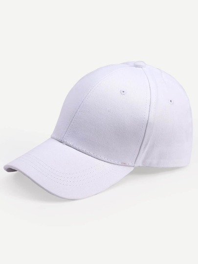 White Embroidered Letters Cotton Baseball Hat