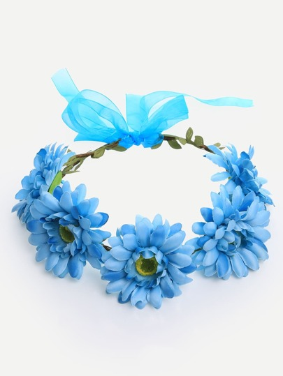 Blue Flower Crown Hairband