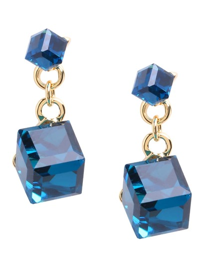 Cubic Crystal Drop Earrings