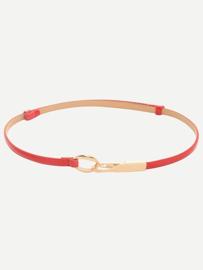 Red Interlock Thin Belt