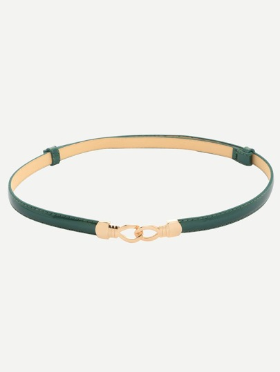 Dark Green Interlock Thin Belt