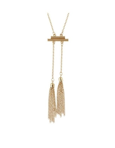 Simple Long Gold Chain Necklace
