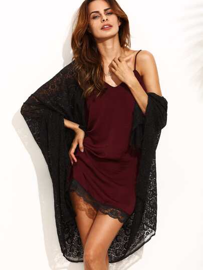 Contrast Lace Cami Dress