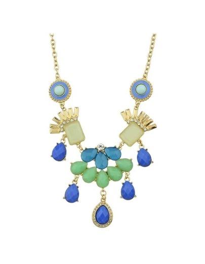 Rhinestone Statement Flower Necklace