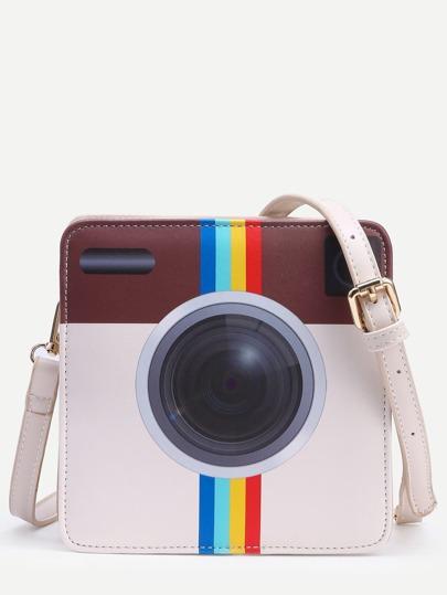 White Camera Shaped Crossbody Bag