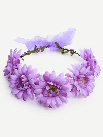 Purple Flower Crown Hairband