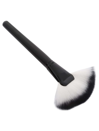 Black Fan-shaped Powder Brush