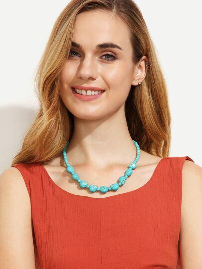 Punk Turquoise Necklace