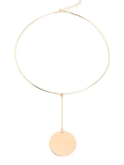 Golden Minimalist Geometric Choker Necklace