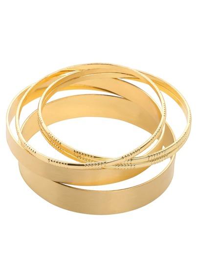 Golden Multilayer Circle Bracelet Set - 4PCS