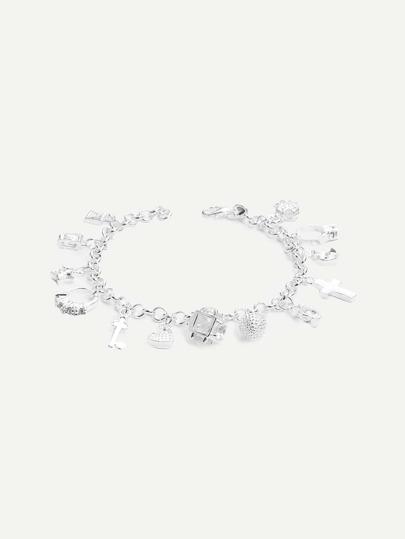 Silver Ornament Bracelet