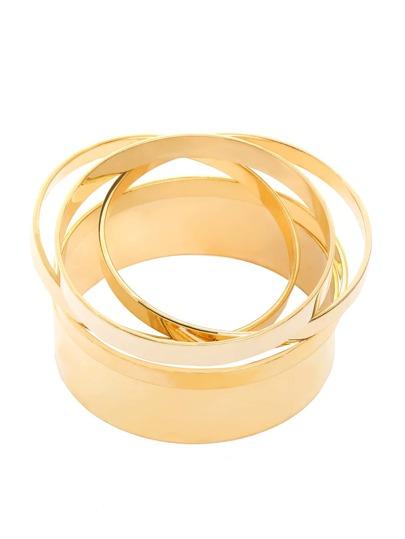 Golden Multilayer Circle Bracelet - 5PCS