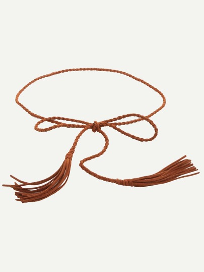 Camel Tassel Thin Waist Rope