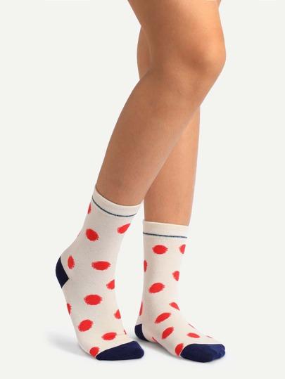 Cute Polka Dot Cotton Socks