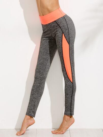 Grey Color Block Sport Pants