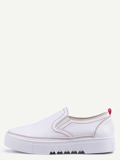 Sneakers a punta rotonda slip on