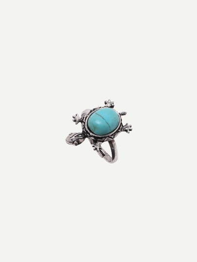 Turquoise Tortoise-shaped Adjustable Ring