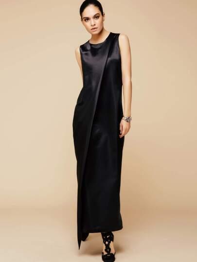 Black Sleeveless Abaya Dress