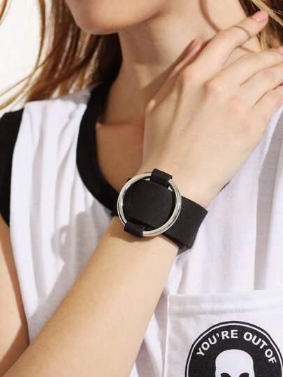 Black Metal Ring Bracelet