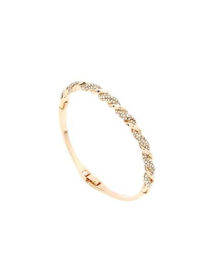 Twisted Rhinestone Bracelet