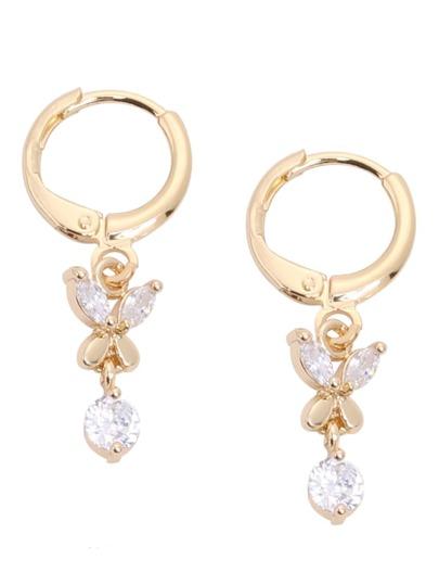 Geometric Rhinestone Drop Earrings