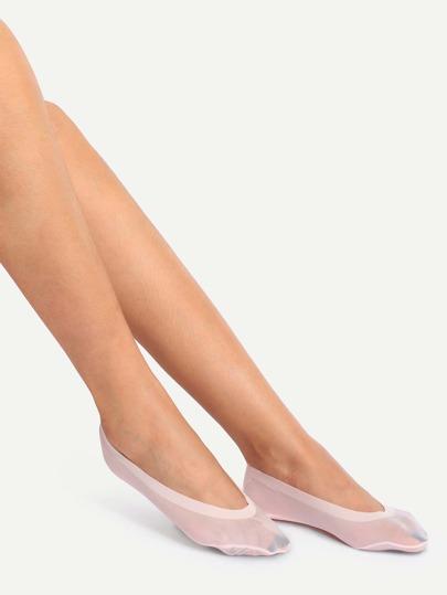 Light Pink Non-slip Breathable Boat Socks