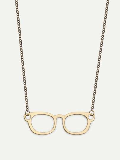 Spectacles Frame Pendant Necklace